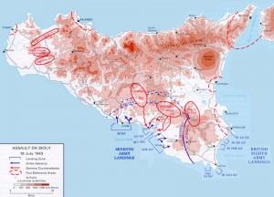 Invasion Sizilien Alliierte Weltkrieg Catania Ausflug