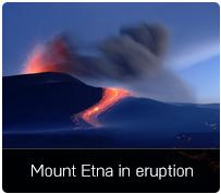 Mount Etna in eruption