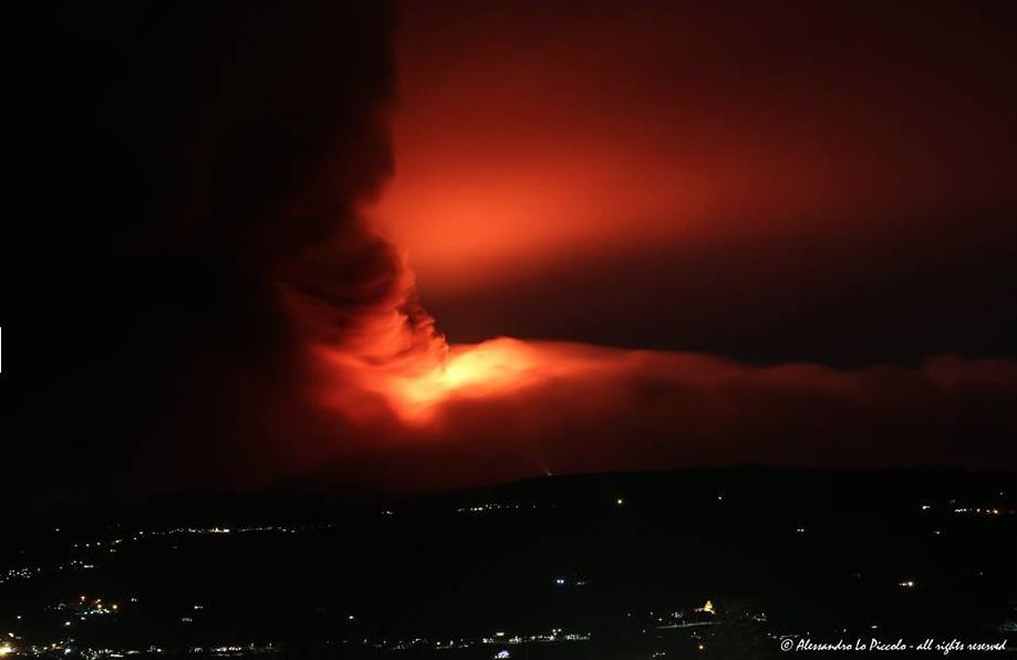 Etna eruption 2014