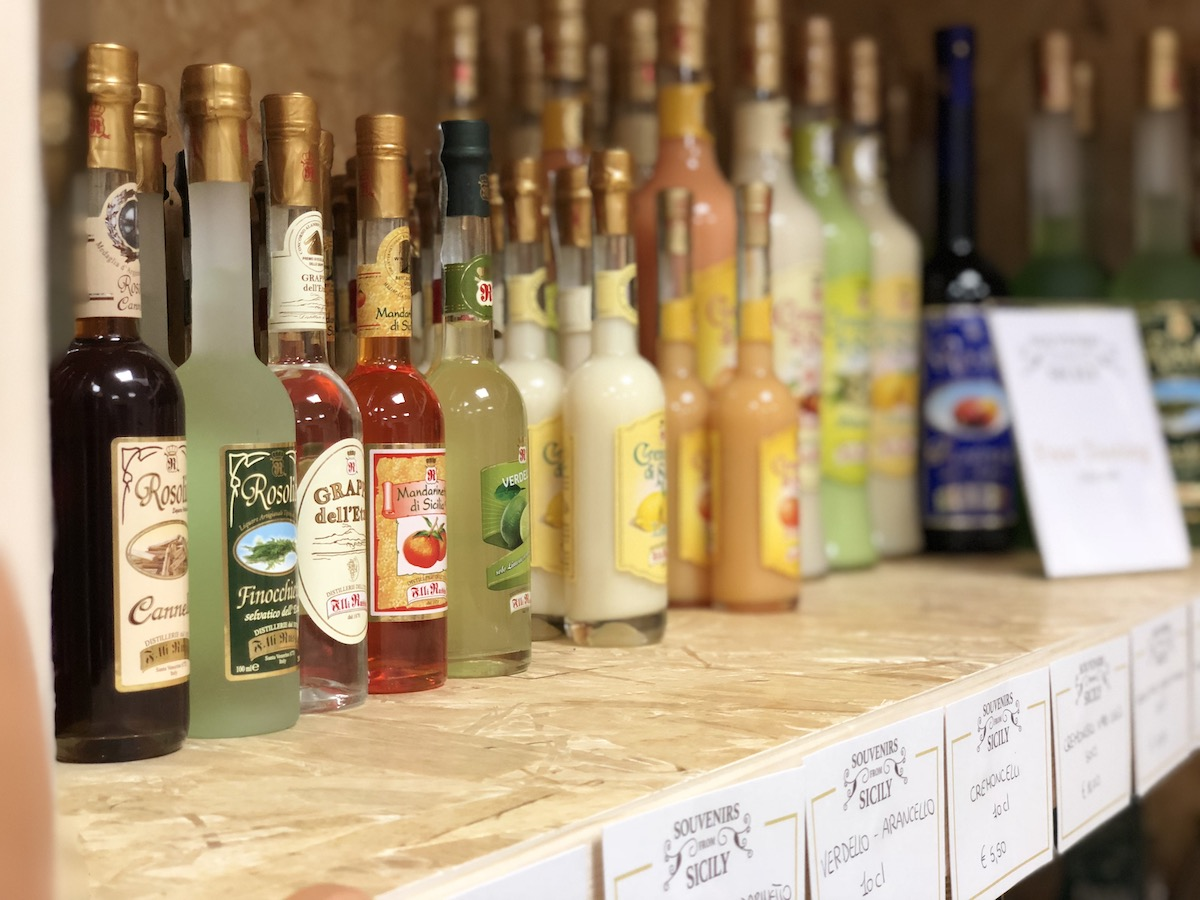 The typical wines and liqueurs