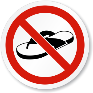 no open footwear