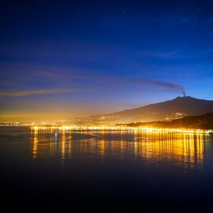Mount Etna by Night