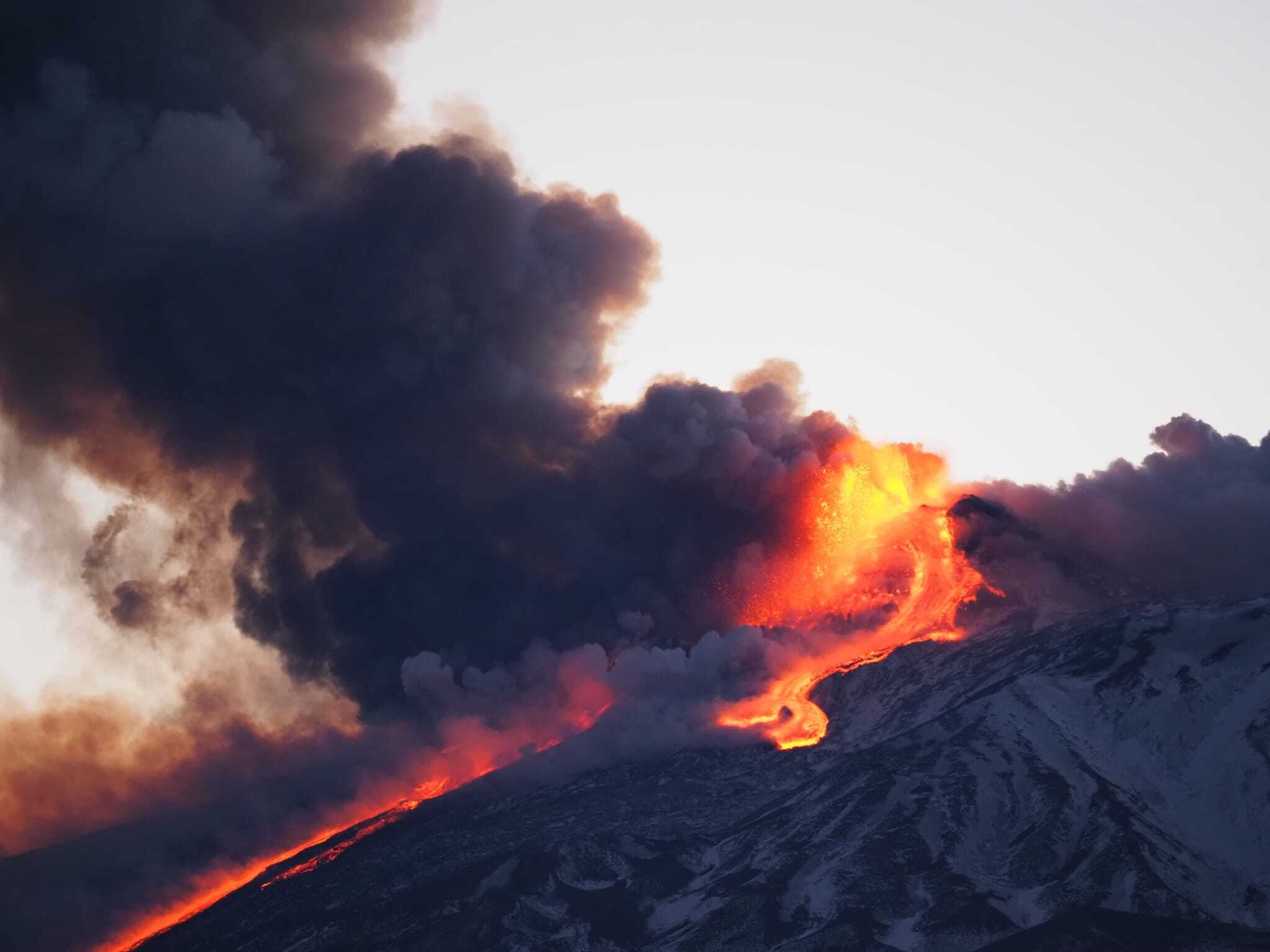 Etna Eruption 2021