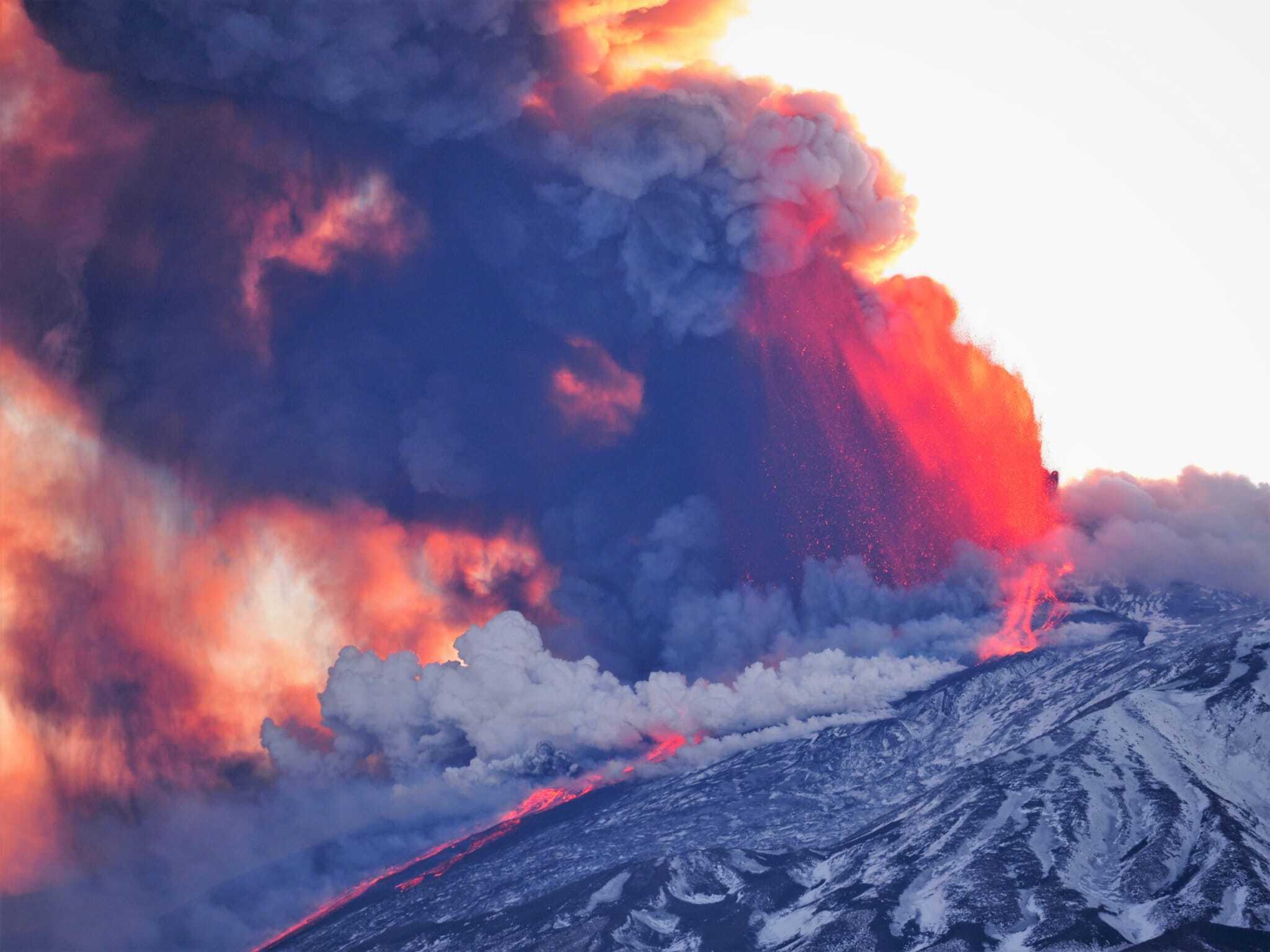 Etna Eruption 2021