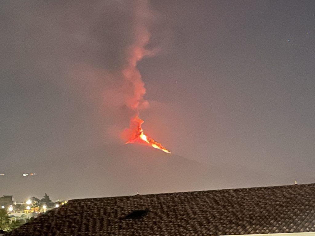 Mount Etna current Eruption